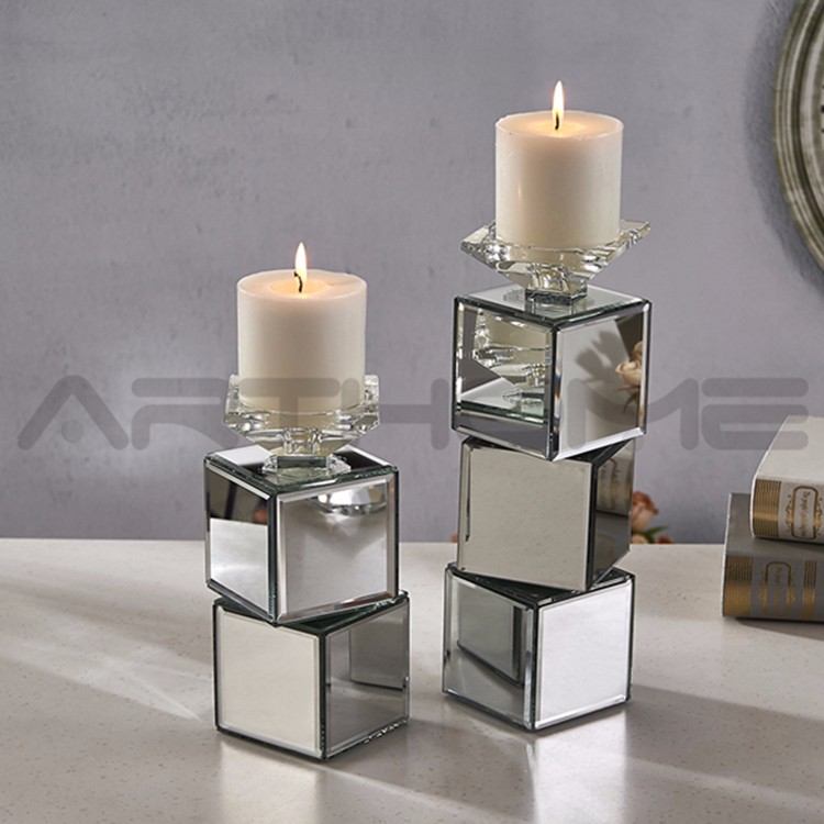wholesale tall glass candle holders for weddings