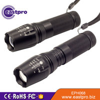 Experienced Long Lighting Distance XM-L T6 LED Five Mode Focus Zoom traffic torch light
