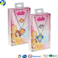wholesale disney audited factory supplier/fancy elegent necklace with princess charm