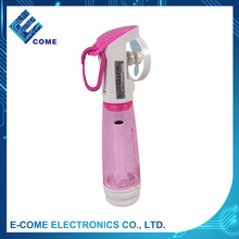 3V dc mini outdoor battery operated handheld water mist spray fan