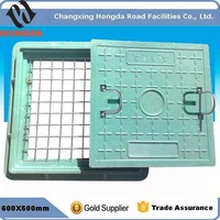 (Free Sample )Square composite Manhole Cover with handle with Best Quality for Road Construction