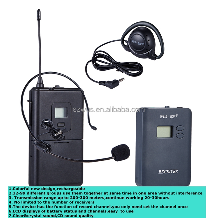 Wireless Tour Guide System tour guide system/Simultaneous Interpretation System ,audio system tour guide,WUS069RC