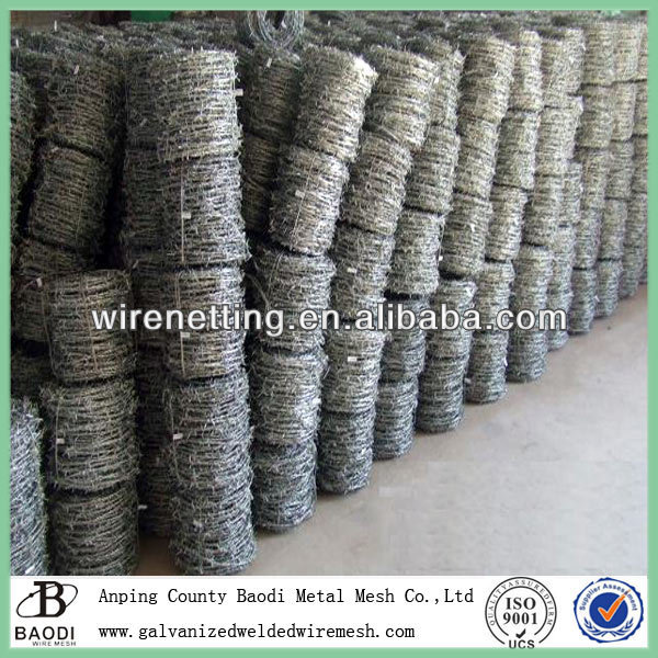 galvanized iron unit weight of barbed wire