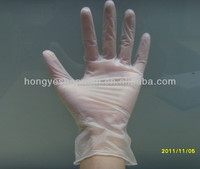 Disposable vinyl hand gloves/powder free XXL vinyl gloves