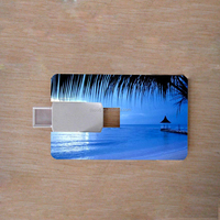 Delicate usb flash drive 8gb usb pen drive postcard usb memory stick with high quality