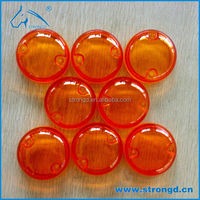 Low volume production transparent orange plastic parts by vacuum casting (silicone mold)