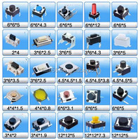 6*6*6(H) 4legs pins tact switch smt smd tactile switches push button