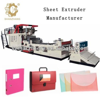 SZJP-1600 Stationery 2-6 Layers PP Sheet Extrusion Line,130 kw Total Power of Installation
