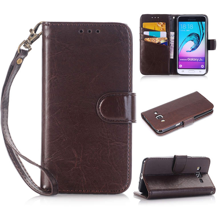 New Luxury Wallet Folio Flip PU Leather Case Cover Credit Card Slot Stand Cases with Strap for Samsung Galaxy Note 7