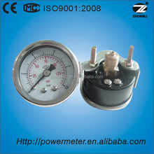 40mm dry type bourdon tube back mounting pressure gauges manometer with U bracket for sale