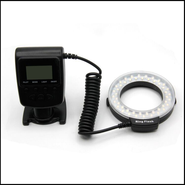 Perfect Shooting Camera Flash Light With 4 diffusers LED Ring Flash For Nikon Canon Olympus Panasonic DSLR