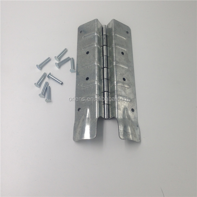 Shipping crate container pallet collar hinge