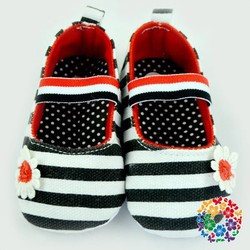 2015 New Soft Sole Baby Girls Top Sneakers Striped Crib Shoes Footwear For Kids Latest Girl Footwear Design Size 0-12m