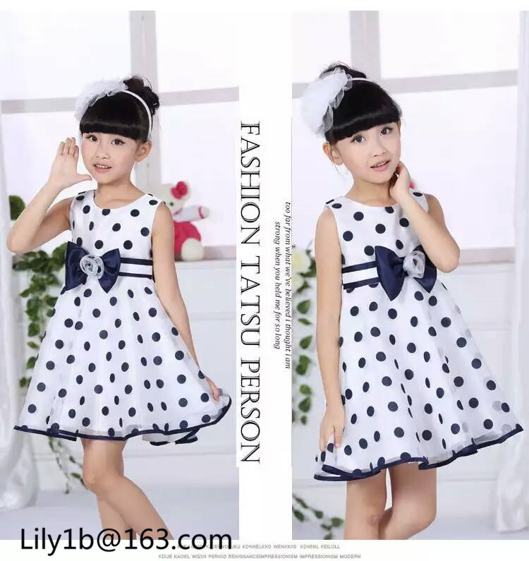 Stock baby dress 3 year old girl designer one piece party dress wholesale kids formal wear