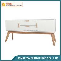 MDF kitchen cabinets with wood paper color, living room sideboard