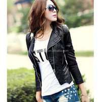 Factory price harley leather jacket luxurious leather jacket for women
