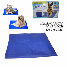 Dog Cat Pet Self Cooling Gel Mat Heat Summer Hot Weather Bed Pad Kitten Puppy-
