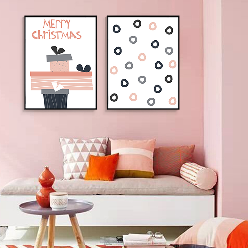 Christmas Modern Holiday Series Decorations Posters Prints Canvas ...
