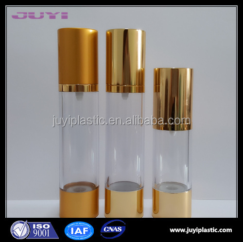 15ml 30ml 50ml 80ml 100ml 120ml airless plastic cosmetic bottles with pump dispenser for sale