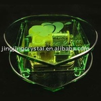 Romantic Crystal Music Box with original shape in china
