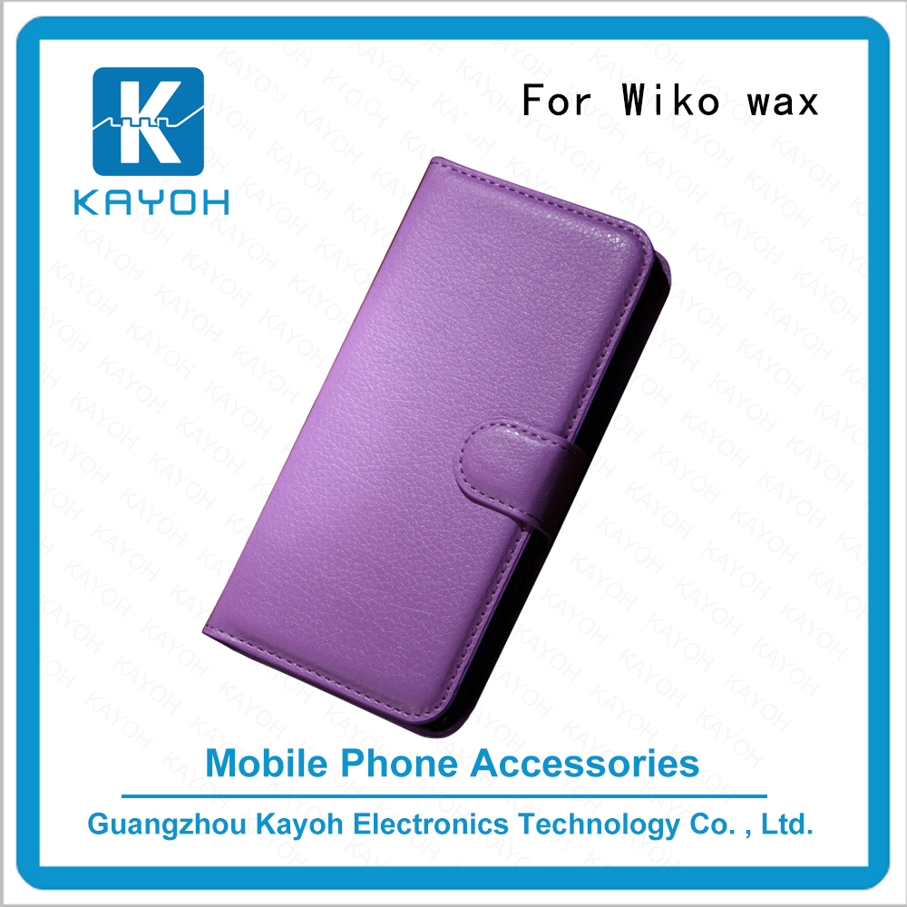 [kayoh]Sublimation leather case /heat press leather filp cell phone cases for Wiko Wax