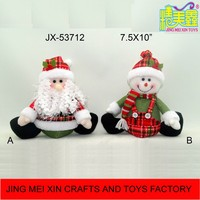 Gold Supplier Selling Lovely Sitting Santa Snowman Decor