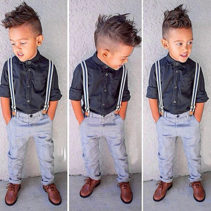 YE7043 summer boys gentleman suits kids clothing cheap factory price 2016