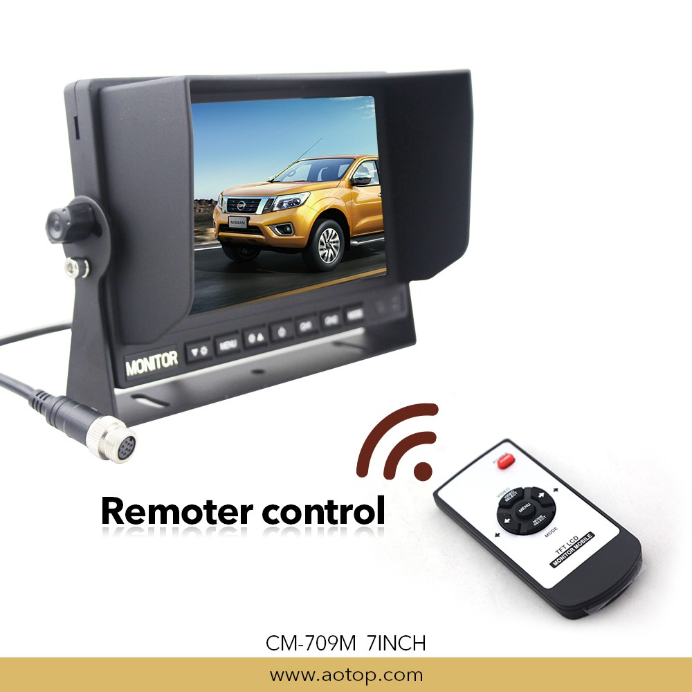 Commercial vehicle 7inch HD u shape car rearview monitor with remote control CM-709M