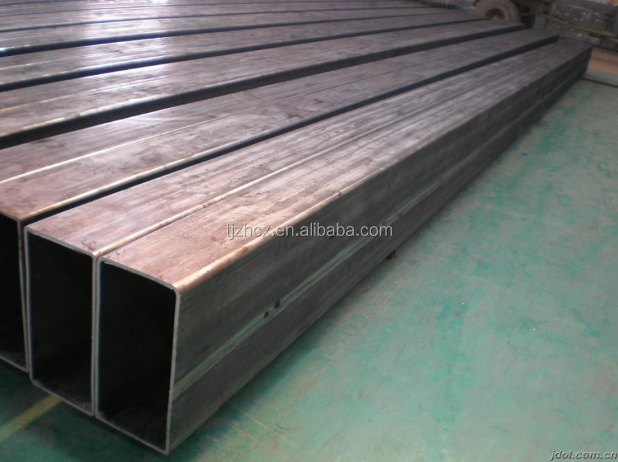 Black rectangular steel tube