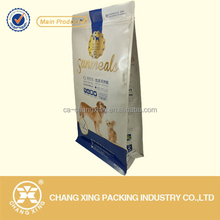 OEM rotogravure printing wholesale plastic packaging for dog food, with/without zipper