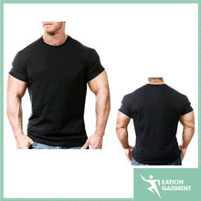 hot selling short-sleeve black t-shirt is for the hard-core bodybuilder Big Muscle fit t-shirt wholesale 100 cotton muscle shirt
