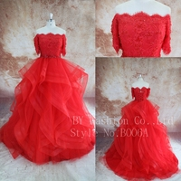 New Style Red Party Dresses Wedding Dress Sale Ball Gown Real Picture Wedding Dress Hong KONG