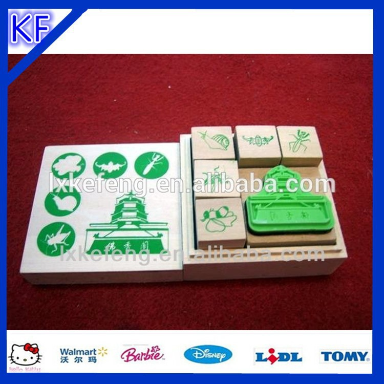 kids embossing carving wood stamp