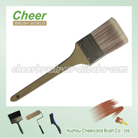 Long wooden handle paint brush for painting wall