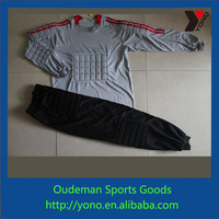 Newest style goalkeeper uniform, hot selling long sleeve goalkeeper jersey