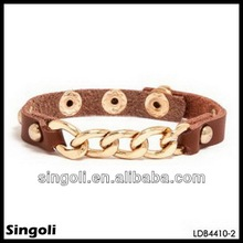 Figaro chain link bracelet brunet department single teen leather bracelet metal button yiwu singoli factory wholesale jewelry
