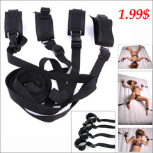 1.99$ factory wholesale sexy simple bed erotic bondage with handcuffs adult toys for women love auxiliary with straddle