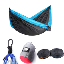 Lightweight Portable Outdoor Camping Double Parachute Nylon Hammock