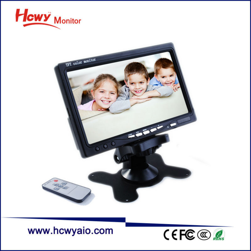 CE RoHs 7 inch LED TV Monitor DC12V 7 inch Car VGA Monitor