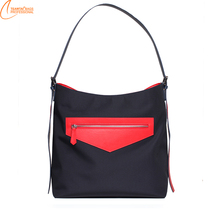 2017 fashion design wide shoulder strap for ladies casual style waterproof Nylon tote bag