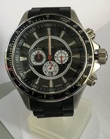 MENS WRIST WATCH CHRONOGRAPH WITH RUBBER BAND