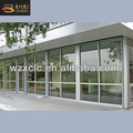 Exterior fixed aluminum frame insulated tempered glass wall panels