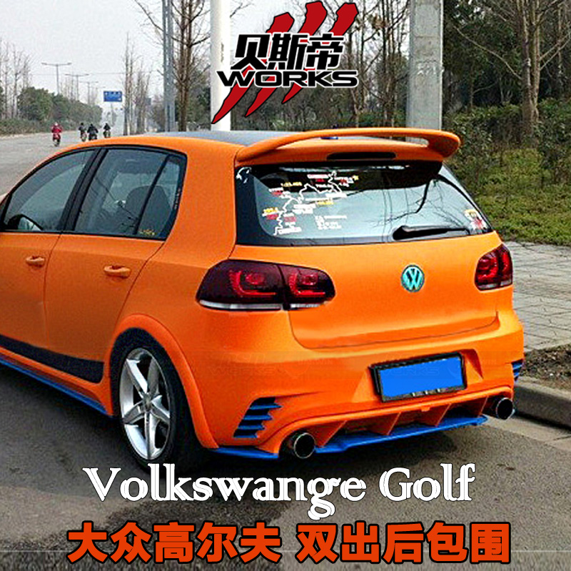 Body Kit for 10-13 VW GTI /Golf 6 /R20 RZR Style Auto Parts Rear Bumper