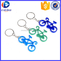 Bicycle Aluminum Bottle Opener Keyring---Choose Colors