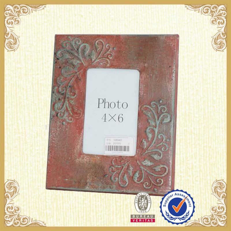 Handicraft picture frame red art deco picture frame accent