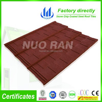 NUORAN High Quality Factory Direct Color Stone Chip Coated Metal Roof Tile