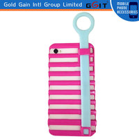 Brand New Soft Silicon Cut Out Protective Case For Samsung S3 I9300 Strap Ring Pull Case