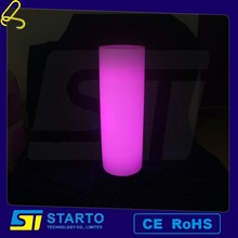 new plastic illuminted pillar color changing led chrismas outdoor decoration