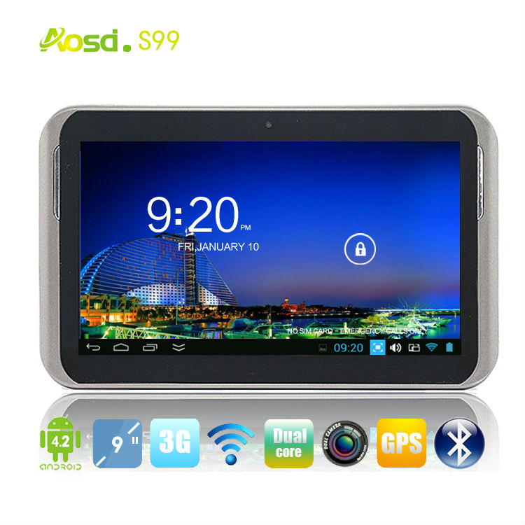 "new china android tablet car gps camera 3g bluetooth 9"" dual core firmware android 4.2 tablet S99"