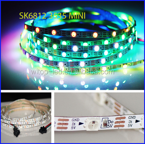Addressable DC5V SK6812MINI 3535 5050 RGB led pixel strip 1m 2m 5m 60LEDs/m 4mm 5mm 60pixels/M as WS2812B